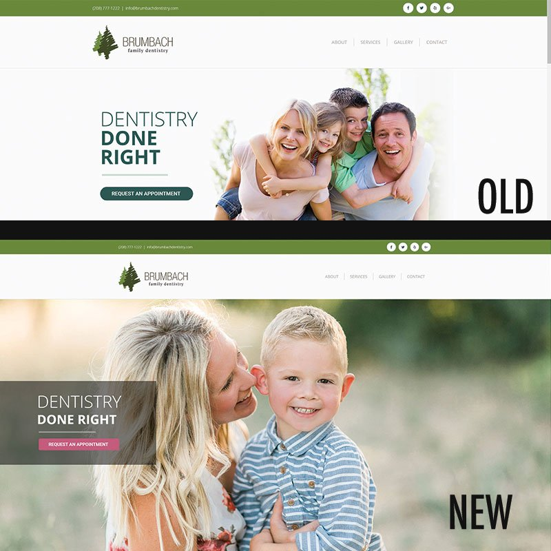 Brumbach Dentistry Old/New Frontpage